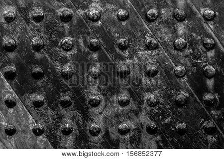 back and white ancient wooden door texture background.,Close up of wooden door