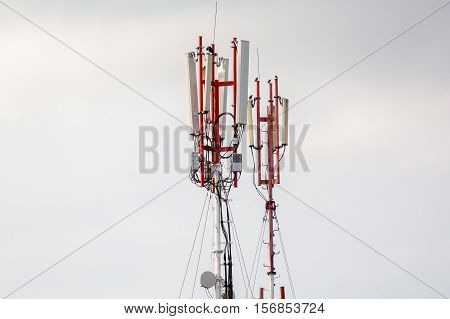 telecommunications tower operator mobile cellular gsm closeup