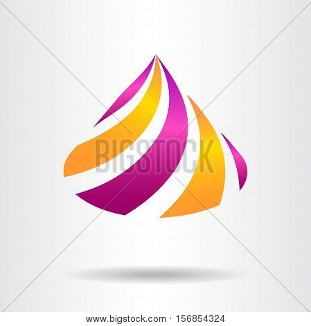 Abstract vector sign in cones shape. Template for logotype.