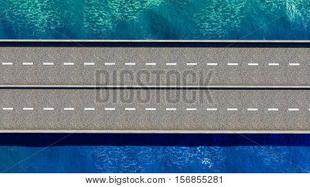Bridge over the ocean 3d rendering outdoors, transportation, bay, vacation