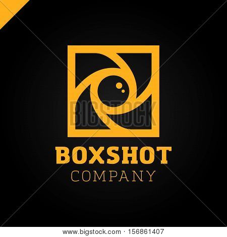Color Square Camera Shutter Logo. Box Photo Camera Logotype