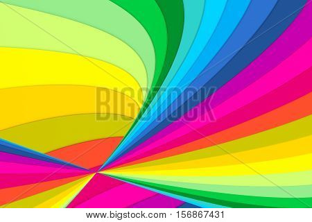 cone line abstract colorful background 3d illustration
