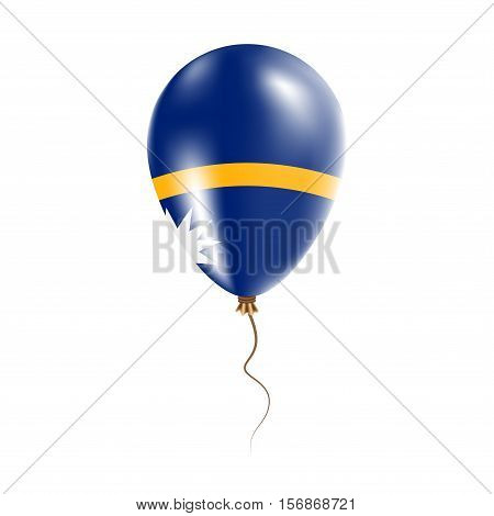 Nauru Balloon With Flag. Bright Air Ballon In The Country National Colors. Country Flag Rubber Ballo