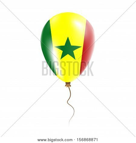 Senegal Balloon With Flag. Bright Air Ballon In The Country National Colors. Country Flag Rubber Bal