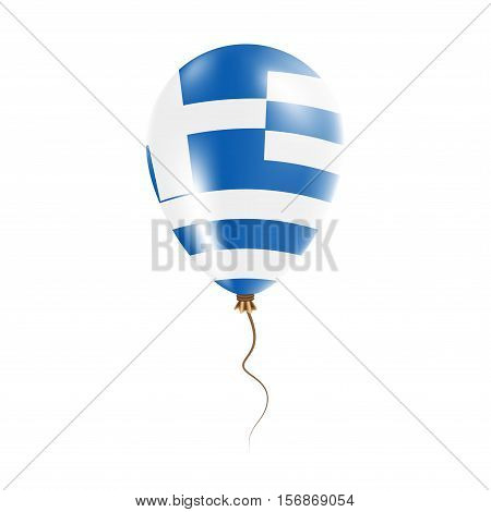 Greece Balloon With Flag. Bright Air Ballon In The Country National Colors. Country Flag Rubber Ball