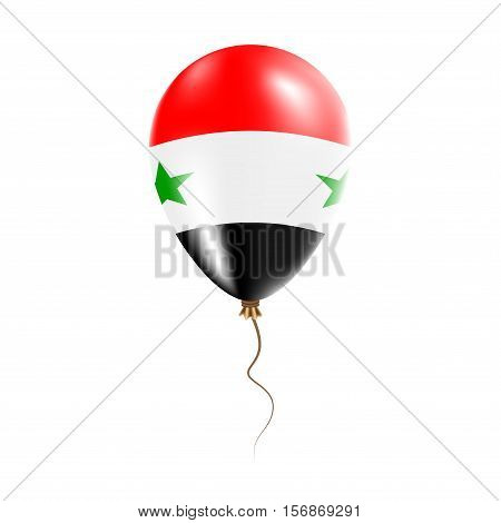Syrian Arab Republic Balloon With Flag. Bright Air Ballon In The Country National Colors. Country Fl