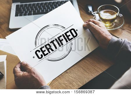 Guarantee Approved Authorized Certified Concept