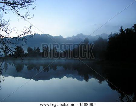 Mts Cook And Tasman Reflected In Lake Matheson At Dawn