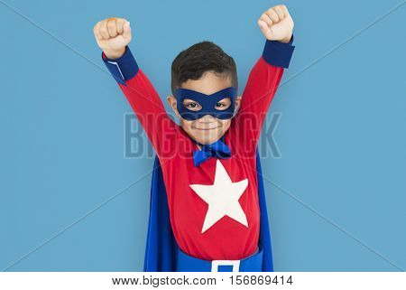 Superhero Boy Child Courageous Kid Concept