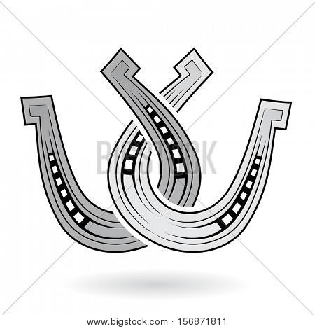 Vector Illustration of Horse Shoes isolated on a white background