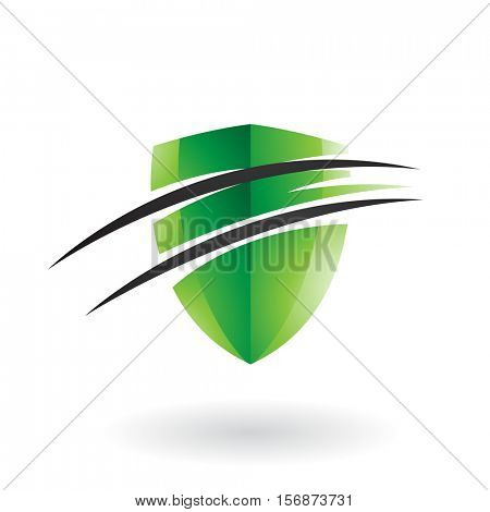 Vector Illustration of a Split Shield Icon isolated on a white background