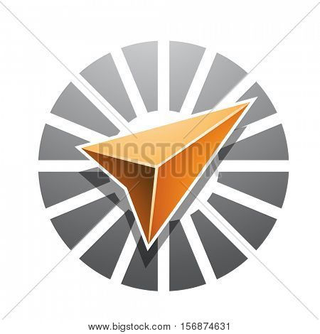 Vector Illustration of Navigation Arrow Abstract Icon isolated on a white background