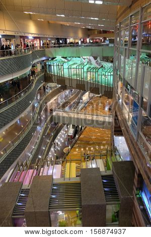 SHANGHAI - FEBRUARY 26, 2016: Luxury shopping mall. China accounts for about 20 percent, or 180 billion renminbi ($27 billion) of global luxury sales in 2015, according to new McKinsey research.