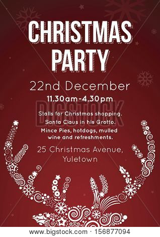 Christmas Party Invitation Flyer Vector Illustration Poster
