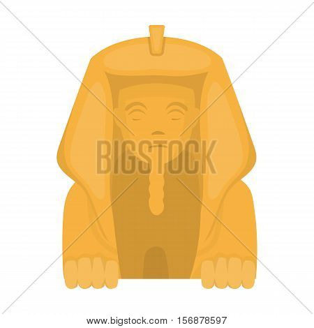 Sphinx icon in cartoon style isolated on white background. Ancient Egypt symbol vector illustration.