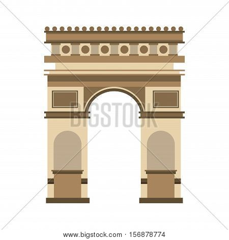 triumph arch france isolated icon vector illustration design