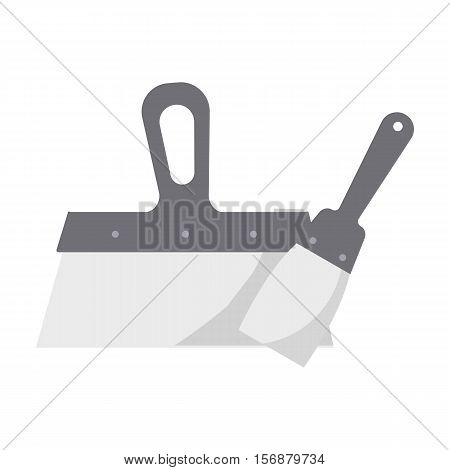 Putty knives icon in cartoon style isolated on white background. Build and repair symbol vector illustration.