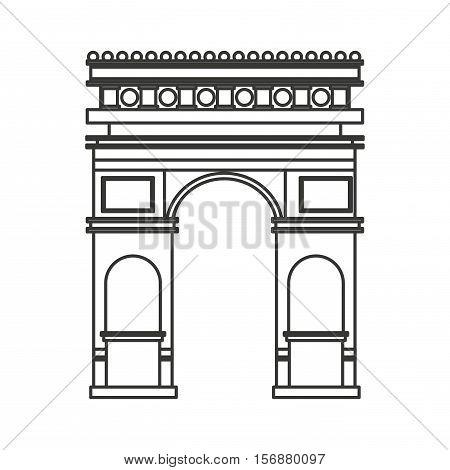triumph arch france isolated icon vector illustration design