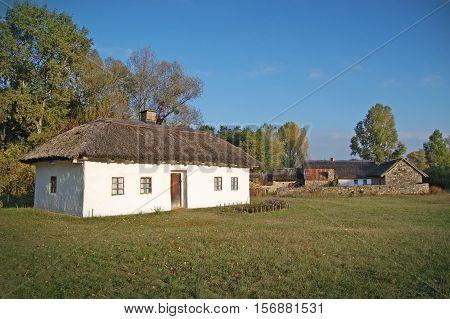 Old hut, Ukraine, Eastern Europe ancient construction, building