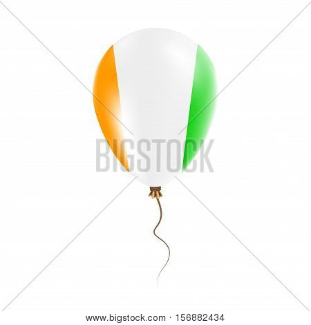Cote D'ivoire Balloon With Flag. Bright Air Ballon In The Country National Colors. Country Flag Rubb