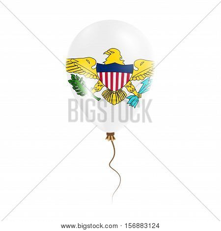 Virgin Islands, U.s. Balloon With Flag. Bright Air Ballon In The Country National Colors. Country Fl