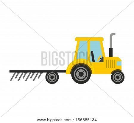 tractor farm vehicle isolated icon vector illustration design