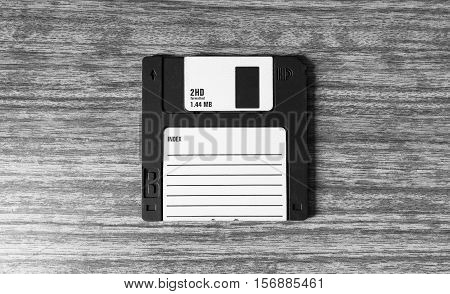 Vintage Black And White Floppy Disc Background
