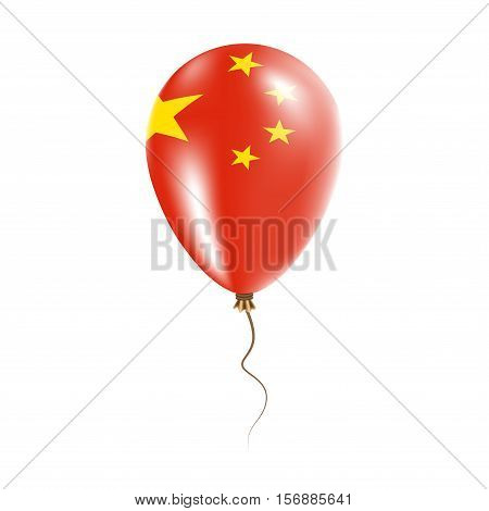 China Balloon With Flag. Bright Air Ballon In The Country National Colors. Country Flag Rubber Ballo