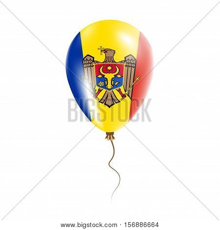 Moldova, Republic Of Balloon With Flag. Bright Air Ballon In The Country National Colors. Country Fl