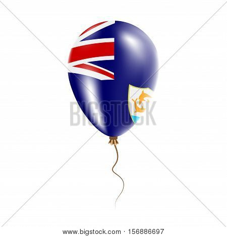 Anguilla Balloon With Flag. Bright Air Ballon In The Country National Colors. Country Flag Rubber Ba
