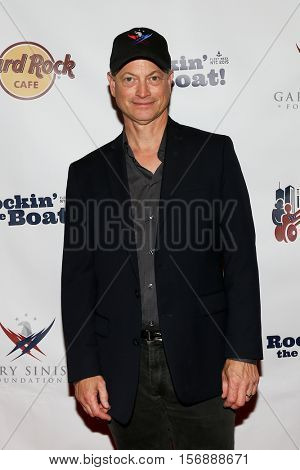 NEW YORK - MAY 21: Actor Gary Sinise attends a benefit concert at the Hard Rock Cafe on May 21, 2015 in New York City.
