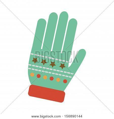christmas glove decorative icon vector illustration design