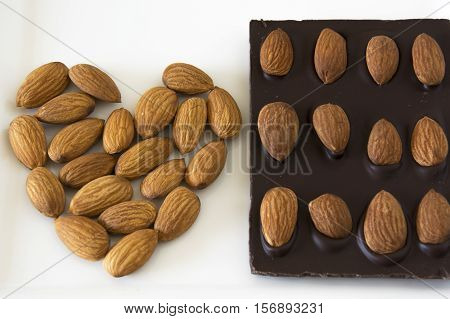 A Delicious Milk Chocolate Bar with Almonds
