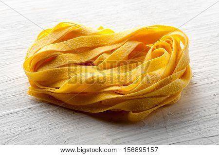 Roll Of Raw Italian Tagliatelle Pasta