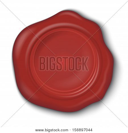 Wax seal isolated on a white background