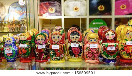 Handmade Dolls At Market In Moscow, Russia
