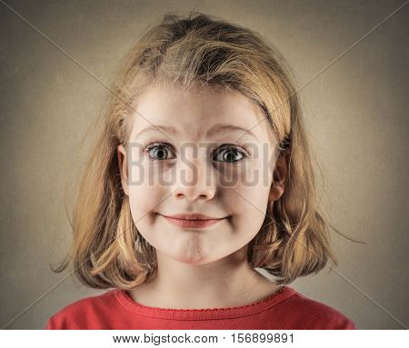 Blonde child's portrait
