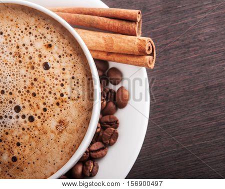 Closeup Of Hot Cappuccino