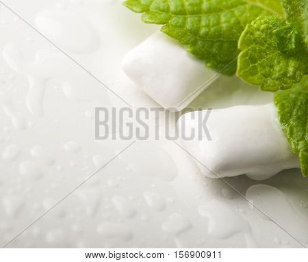 Chewing Gums With Fresh Green Mint