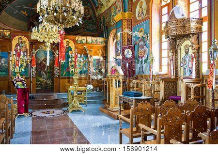 Kos Greece - May 22 2010 : The Agios Vasili church in Pili village
