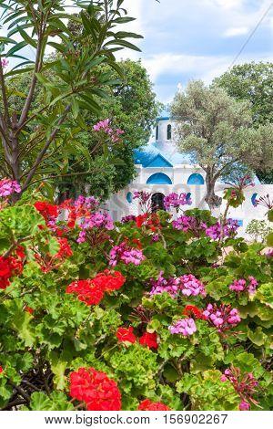 Greece Dodecanese Kos the Panagia Syntriani church in the suburbs