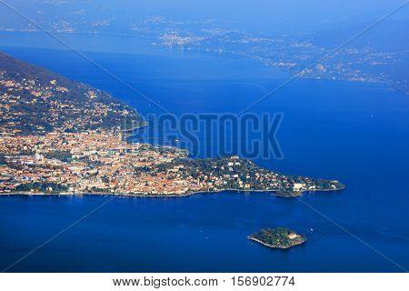 Scenic view of Lake Maggiore, Italy, Europe