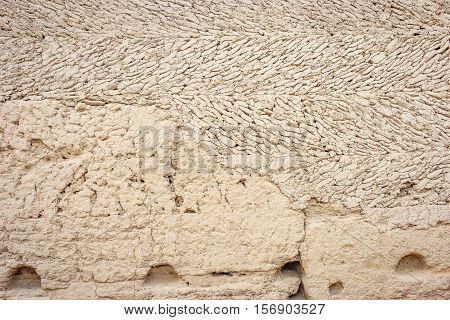 Mud House Facade Close Up, Jiaohe Ruins, Turpan, China