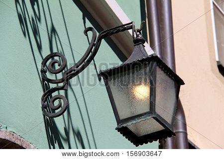 Street light / Vintage street lamp close-up.