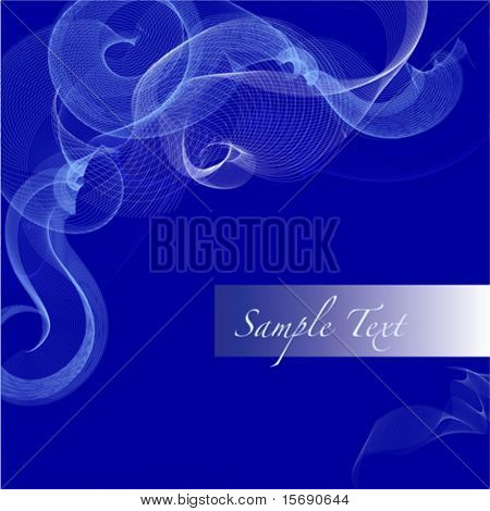 Vector image of abstract blue swirls