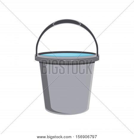 Grey Bucket Icon