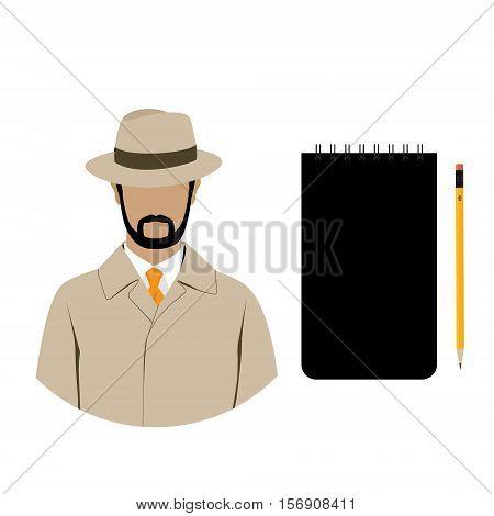 Detective Icon Set