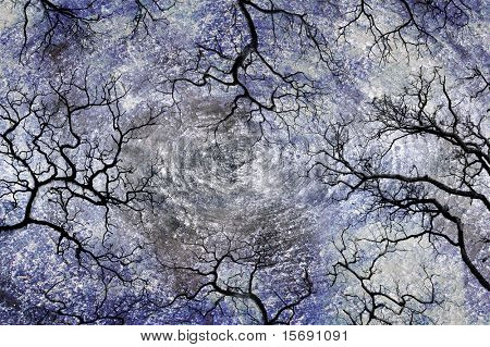 Grungy background with cracks or trees