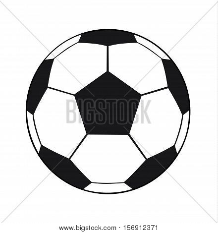 Football Ball Isolated On White Background - Soccer Ball Sport Equipment Vector Flat Stock