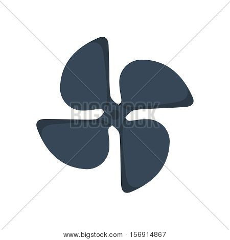 Turbines icons propeller fan rotation technology equipment. Fan blade, wind ventilator propeller fan equipment generator. Vector illustration propeller fan vector electric industrial ventilators.